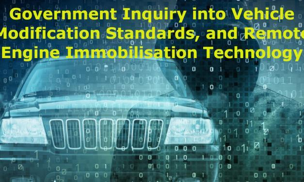 Queensland Government Inquiry into Vehicle Modification Regulations and Remote Engine Immobiliser Technology