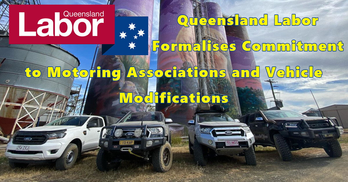 Queensland Labor Formalises Commitment to Motoring Associations and Vehicle Modifications