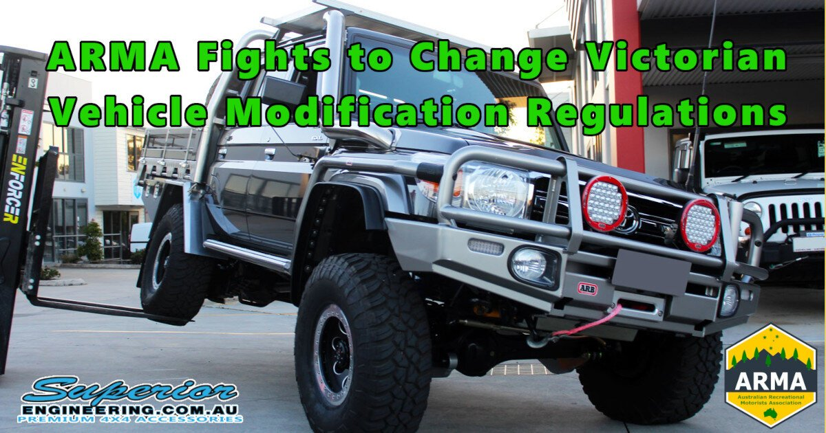 ARMA Fights to Change Victorian Vehicle Modification Regulations